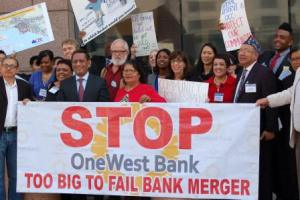 LA Community leaders, harmed homeowners, and advocates all called on the Federal Reserve and OCC to deny the merger unless substanial improvements are made.